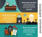 funeral service banner... | Shutterstock .eps vector #648582532