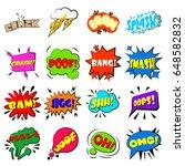 comic bubbles icons set.... | Shutterstock .eps vector #648582832