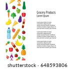 grocery products. flayer ... | Shutterstock .eps vector #648593806