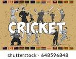 illustration of batsman and... | Shutterstock .eps vector #648596848