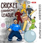 illustration of batsman and... | Shutterstock .eps vector #648598555
