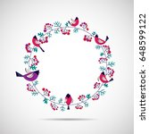 vector illustration of floral...   Shutterstock .eps vector #648599122