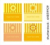 set of 4 cute sun frames   Shutterstock .eps vector #64859929