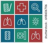 illness icons set. set of 9...   Shutterstock .eps vector #648606706