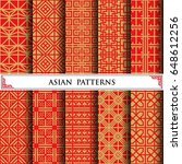 asian vector pattern pattern... | Shutterstock .eps vector #648612256