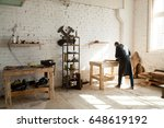 image of woodworking workshop... | Shutterstock . vector #648619192