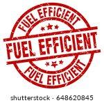 fuel efficient round red grunge ... | Shutterstock .eps vector #648620845