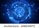 abstract science technology... | Shutterstock .eps vector #648634072