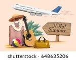 summer vacation design travel...   Shutterstock .eps vector #648635206