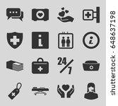 help icons set. set of 16 help... | Shutterstock .eps vector #648637198