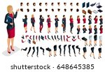 large isometric set of hand and ... | Shutterstock .eps vector #648645385