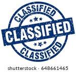 classified blue round grunge... | Shutterstock .eps vector #648661465