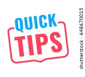 quick tips. badge icon. flat... | Shutterstock .eps vector #648670015