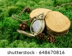 composition of vintage watches  ... | Shutterstock . vector #648670816