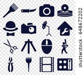 professional icons set. set of...   Shutterstock .eps vector #648672202