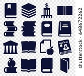library icons set. set of 16... | Shutterstock .eps vector #648672262
