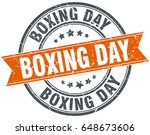 boxing day round grunge ribbon... | Shutterstock .eps vector #648673606