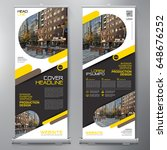 business roll up. standee... | Shutterstock .eps vector #648676252
