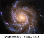 Pinwheel Galaxy (also known as Messier 101, M101 or NGC 5457)  in the constellation Ursa Major. Elements of this image furnished by NASA.