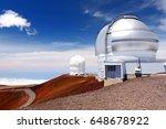 observatories on top of mauna... | Shutterstock . vector #648678922