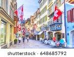 zurich  switzerland   april 12  ...   Shutterstock . vector #648685792