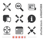 teamwork icons. helping hands... | Shutterstock .eps vector #648685888