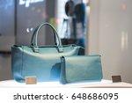 woman handbags in a luxury... | Shutterstock . vector #648686095