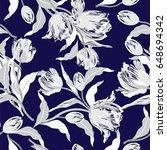 vector floral watercolor...   Shutterstock .eps vector #648694342