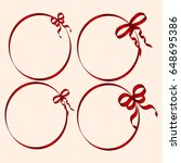 a set of round frames decorated ... | Shutterstock .eps vector #648695386