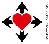 expand love heart flat icon....   Shutterstock .eps vector #648702736