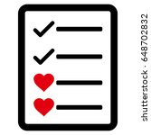 lovely list page flat icon....   Shutterstock .eps vector #648702832