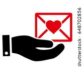 love mail offer hand flat icon. ...   Shutterstock .eps vector #648702856