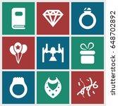 gift icons set. set of 9 gift...   Shutterstock .eps vector #648702892