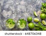 mojito cocktail non alcohol bar ... | Shutterstock . vector #648706348