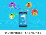 weather forecast concept design.... | Shutterstock .eps vector #648707458
