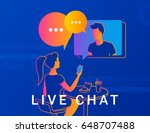live chat concept vector...   Shutterstock .eps vector #648707488