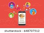 ordering sushi concept design.... | Shutterstock .eps vector #648707512