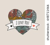 vector multicolored heart with...   Shutterstock .eps vector #648711466