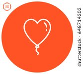 heart balloon line vector icon | Shutterstock .eps vector #648714202