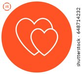 two heart  line vector icon   Shutterstock .eps vector #648714232