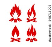 fire vector icon set... | Shutterstock .eps vector #648715006