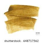 gold metallic brush stroke.... | Shutterstock .eps vector #648717562