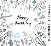 Card With Medow Herbs And Text...