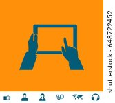 touch screen icon illustration. ...