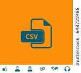Csv Icon Illustration. Blue...