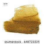gold metallic brush stroke.... | Shutterstock .eps vector #648723325