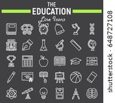 education line icon set  school ... | Shutterstock .eps vector #648727108