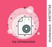 sheet of paper and gear wheel.... | Shutterstock .eps vector #648730768