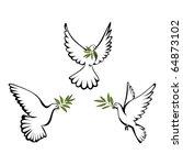peace dove | Shutterstock .eps vector #64873102