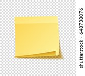 sticky note with shadow... | Shutterstock .eps vector #648738076